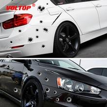 سيارة ملصقات 3D ثقب رصاصة مضحك صائق سيارة يغطي دراجة نارية خدش واقعية رصاصة حفرة ملصقات مقاومة للماء اكسسوارات السيارات