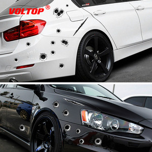 Image 1 - Car Stickers 3D Bullet Hole Funny Decal Car covers Motorcycle Scratch Realistic Bullet Hole Waterproof Stickers Car Accessories