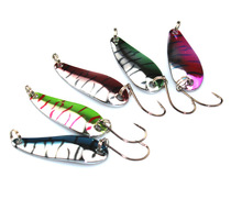 1Pcs Single BKK Hook Sinking Spoon 5.6g Hard Bait Metal Artificial bait Fishing Lures Sequins Paillette Baits ZB199
