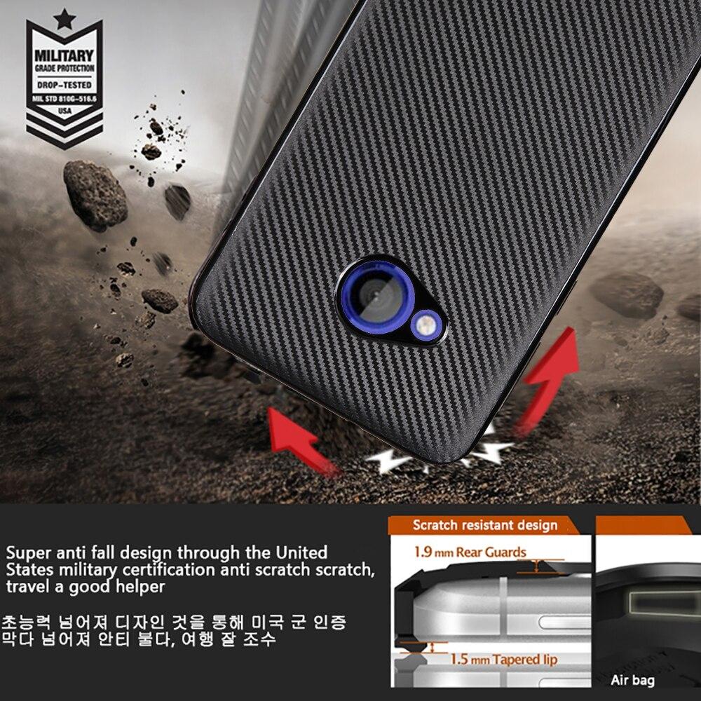 Case para htc u juego de lujo 5.2 de fibra de carbono de tpu cubre resistente al