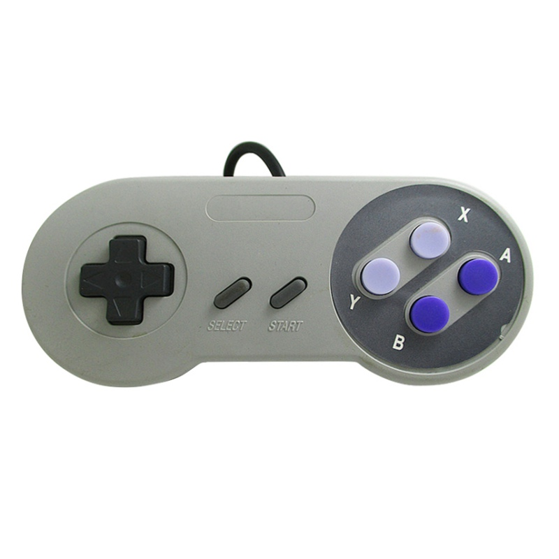 Image 2 - Classic 16 Bit Game Controller ABS for Super Nintend SNES System Console Control Pad-in Gamepads from Consumer Electronics
