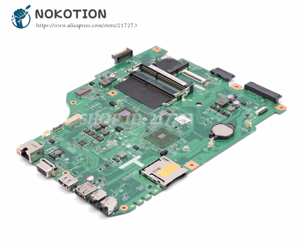 NOKOTION CN-0H2KGP 0H2KGP 48.4IP11.011 MAIN BOARD For Dell Inspiron M5040 Laptop Motherboard CMC60 CPU DDR3 nokotion for dell inspiron m301z n301z laptop motherboard cn 0f1x70 0f1x70 hm57 i3 330um cpu ddr3 hd5430 video card