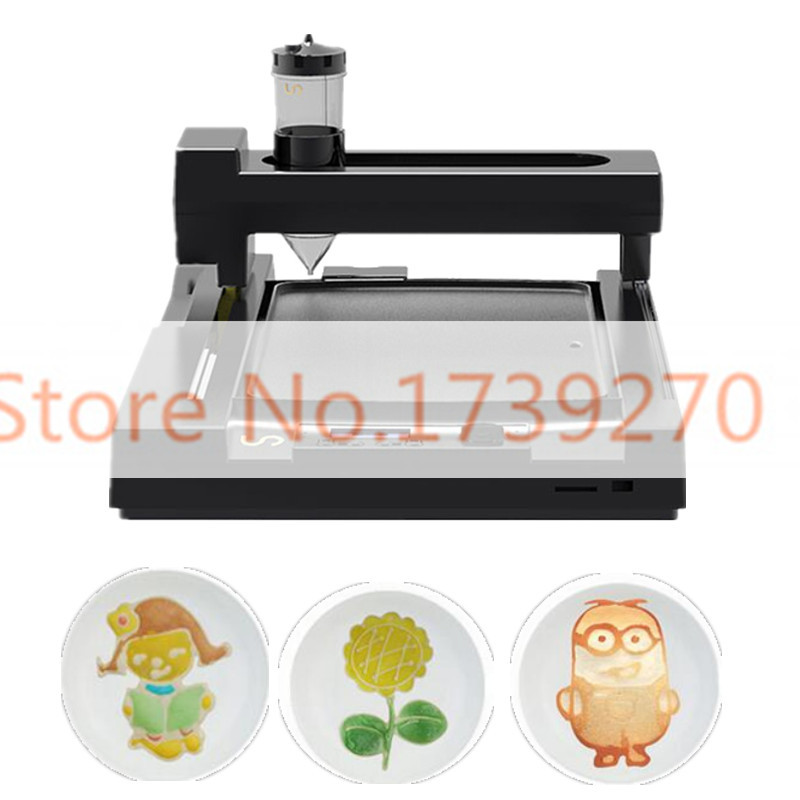 CE certification 3dfood printer, pancake printer,LCD screen bread printer,220V  biscuit  printer for home use/commerial use printer