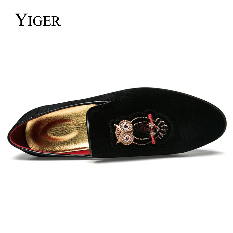 YIGER New Man Loafers Slip-on Tip Toe Peas Shoes Men Casual Cotton - Men's Shoes - Photo 4