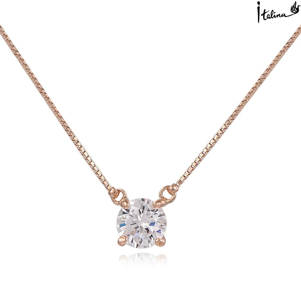 New Sale Brand TracysWing Necklace Genuine Austria Crystal Rose Gold Color Pendant necklace Zircon #RG61334Rose