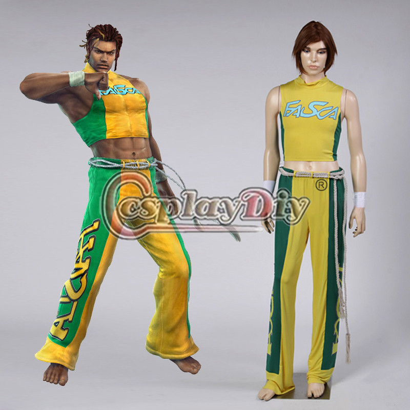 Cosplaydiy Tekken Eddy Gordo Cosplay Costume Adult Halloween Costumes Version 01 Custom Made D0828