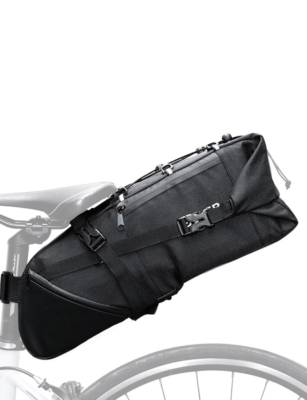 Lixada Bike Saddle Bag 3-10L Large-capacity Mountain Road MTB Bicycle Bike Cycling Tail bag Storage Pack Bicycle Under Seat Bag leg extension split machine