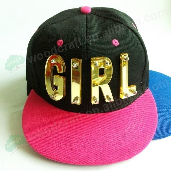 3D Letter GIRL rivet hiphop cap hiphop cap baseball performance hat men cap 7 color mix snapback hats fast shipping