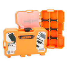 JAKEMY Components Storage Box  Durable Tool Storage Box Mini Utility Component Container Instrument Box Case for SMD Screwdriver