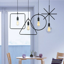 Geometric Lamp Nordic Pendant Lights Modern Creative Personality Single Head Restaurant Clothing Shop Living Room Hallway Bar