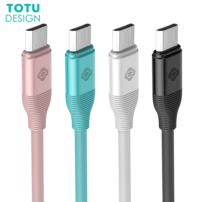 TOTU Micro USB Cable For Samsung 2M Fast Charging Data Sync Microusb Charger Cable For Huawei Xiaomi Android Mobile Phone Cables