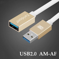 1 2 3M Male To Female USB 2 0 AF AM Cable Extension Cord Alloy Metal