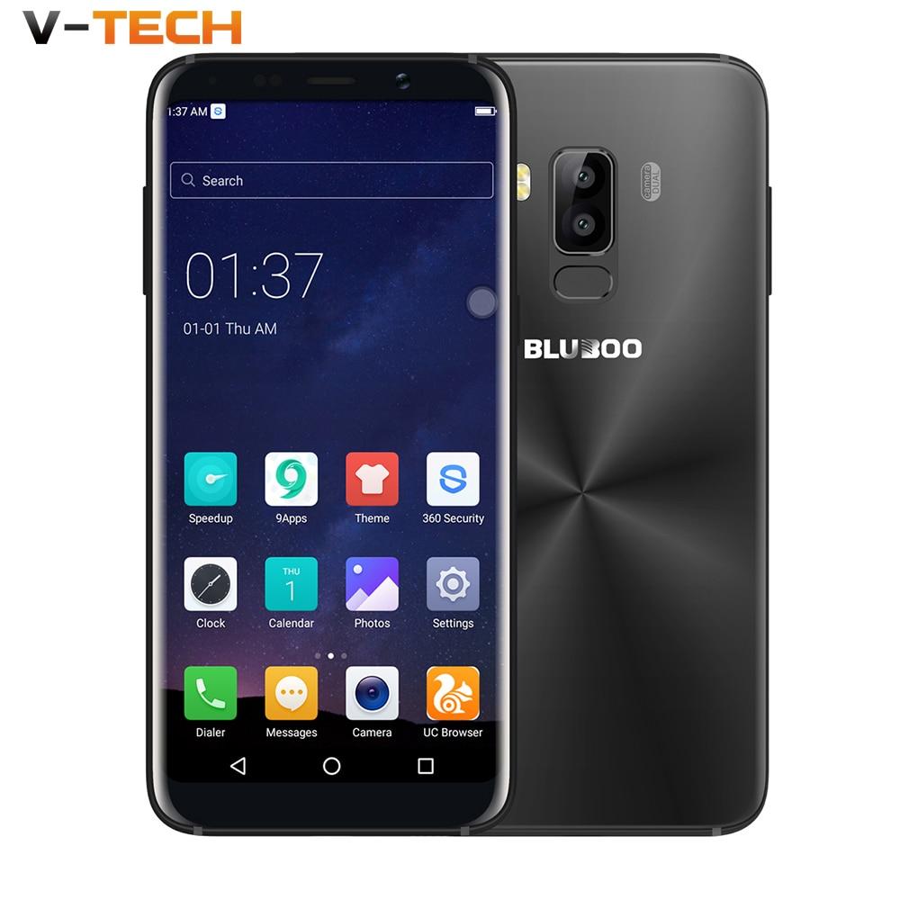 Original Bluboo S8 5.7'' Full Display 4G Smartphone 3GB RAM 32GB ROM MTK6750 Octa Core Android 7.0 Dual Rear Camera Mobile Phone