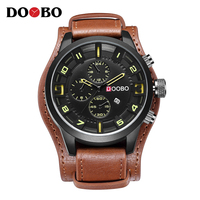DOOBO Army Military Sports Quartz Mens Watches Top Brand Luxury Leather Men Watch Casual Sport Clock