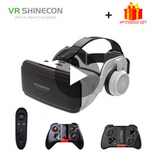 VR Shinecon G06E Helmet 3D Glasses Virtual Reality 3 D Headset For iPhone Android Smartphone Smart Phone Goggles Lunette Lens(China)