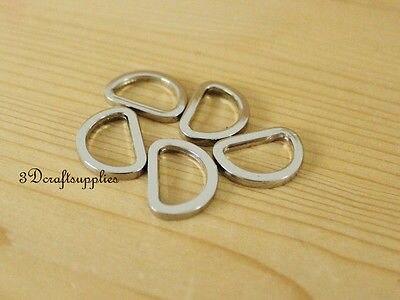 D Ring D-rings Purse Ring Alloying Silver 19 Mm 3/4 Inch 14pcs G37
