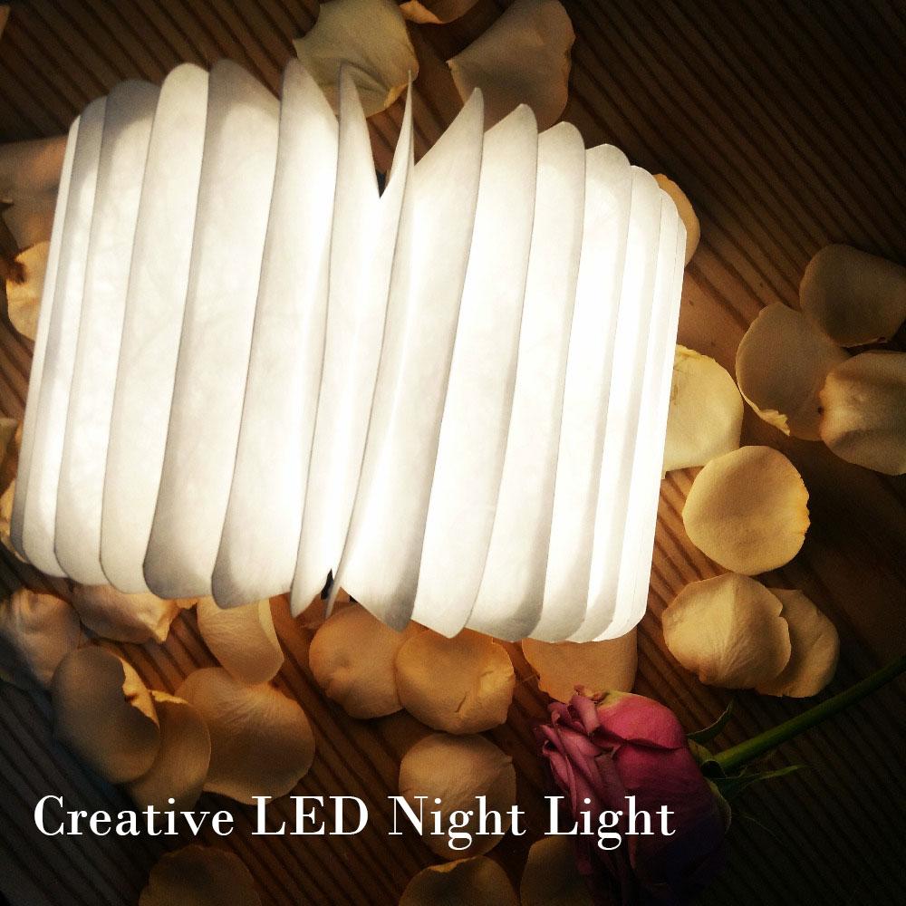USB Rechargeable LED Light Foldable Wooden Book Shape Desk Lamp Nightlight Booklight Home Decoration Warm Light Home Decoration