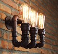 Retro Vintage Wall Lamps Waterpipe 3 heads wall mounted lighting Fixture