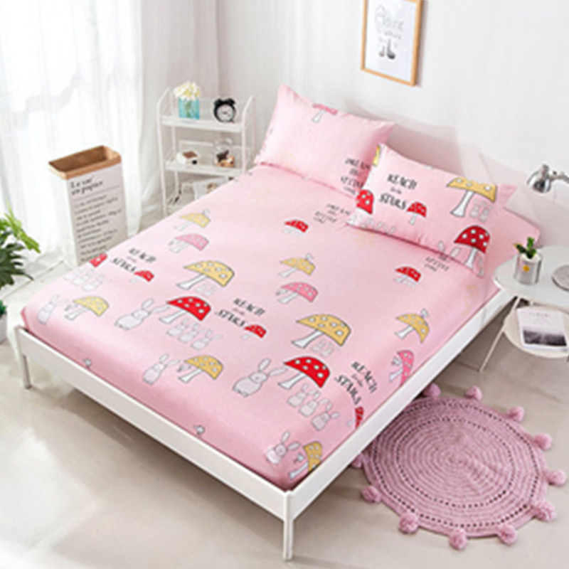 efd69faed8 Bed Sheet With Pillowcase Blue Flower Printed Bed Linen Queen Size Mattress  Covers Fitted Sheet Sets With Elastic For King Size-in Sheet from Home &  Garden ...