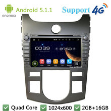 Quad Core 8″ 1024*600 Android 5.1.1 Car DVD Video Player Radio FM BT DAB+ 3G/4G WIFI GPS Map For KIA Cerato Forte AT 2008-2012