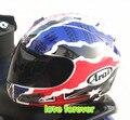 2016 DUHAN Motocicleta casco Arai RX 7 RR5 casco Carrera casco Racing casco de la cara Llena para mantener caliente despegar forro