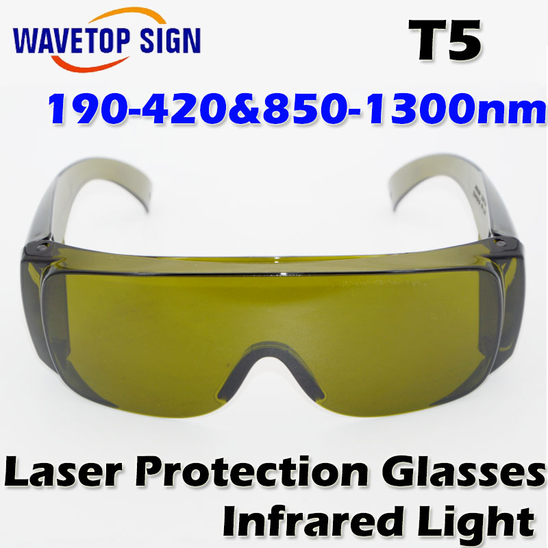 free shipping Laser protection glasses 190-420 & 850-1300nm Infrared light Laser protection yag laser fiber laser use free shipping kapro 810 clamp device laser infrared horizontal marking ruler
