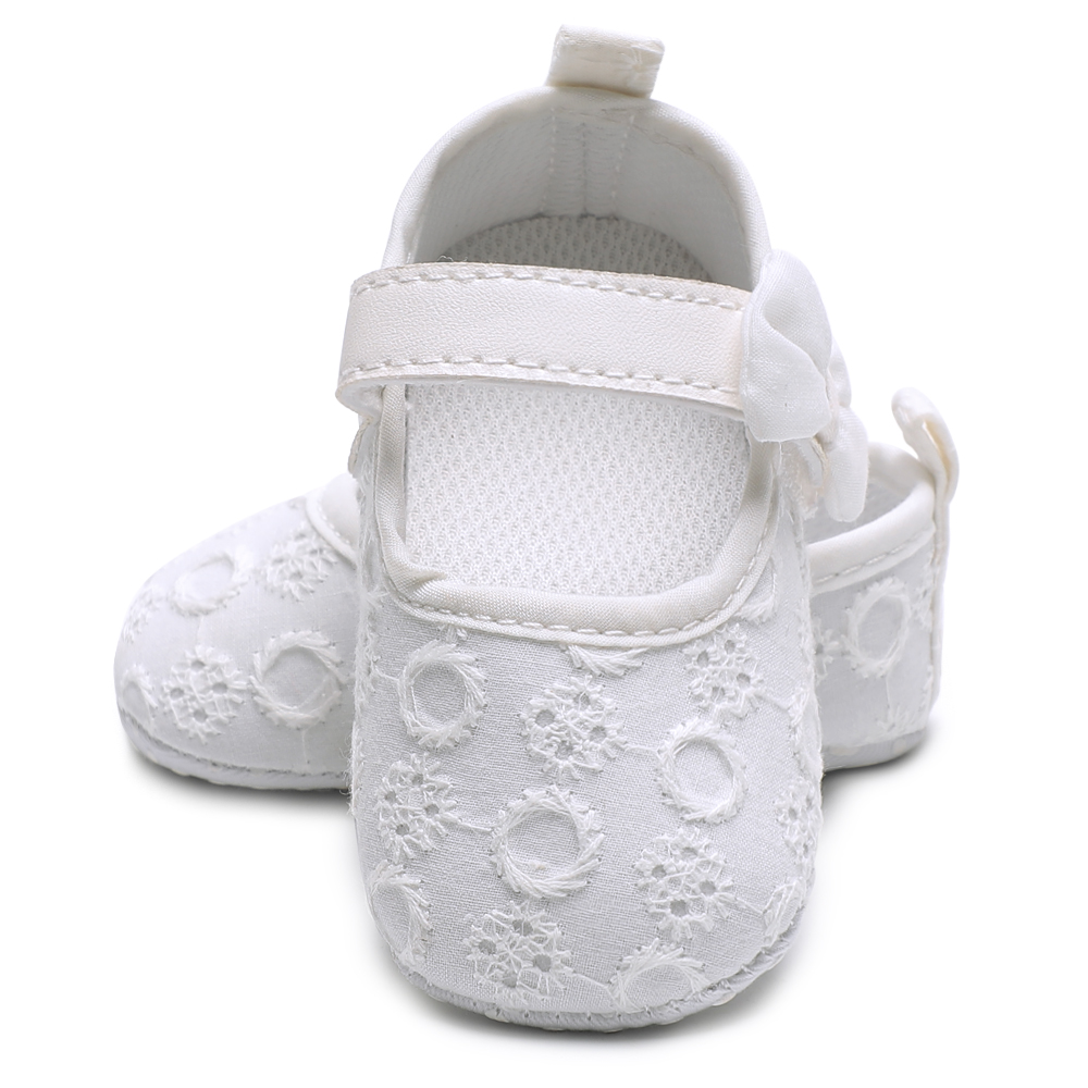 In Quality Spring And Autumn Bow Knot Baby Soft Shoes Baby Shoes Canvas Shoes Moccasins Baby Newborn Infant Baby Girl Shoes Excellent