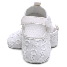 e7eeccf11dfe Kawaii Butterfly-knot Infant Baby Girl Shoes High Quality Solid Prewalker  Simple Lace Toddler Kids