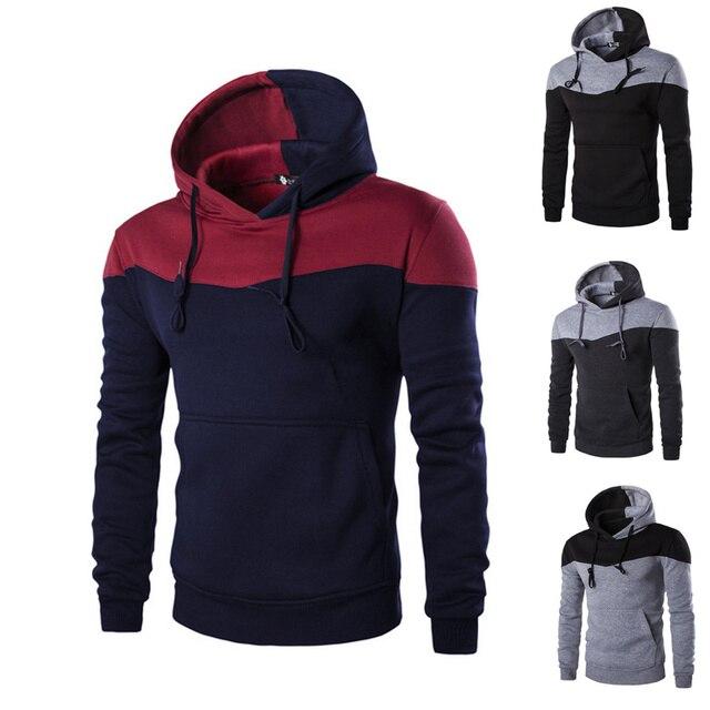 Модные Для мужчин тонкий толстовка с капюшоном пальто зимняя куртка теплая верхняя одежда H9