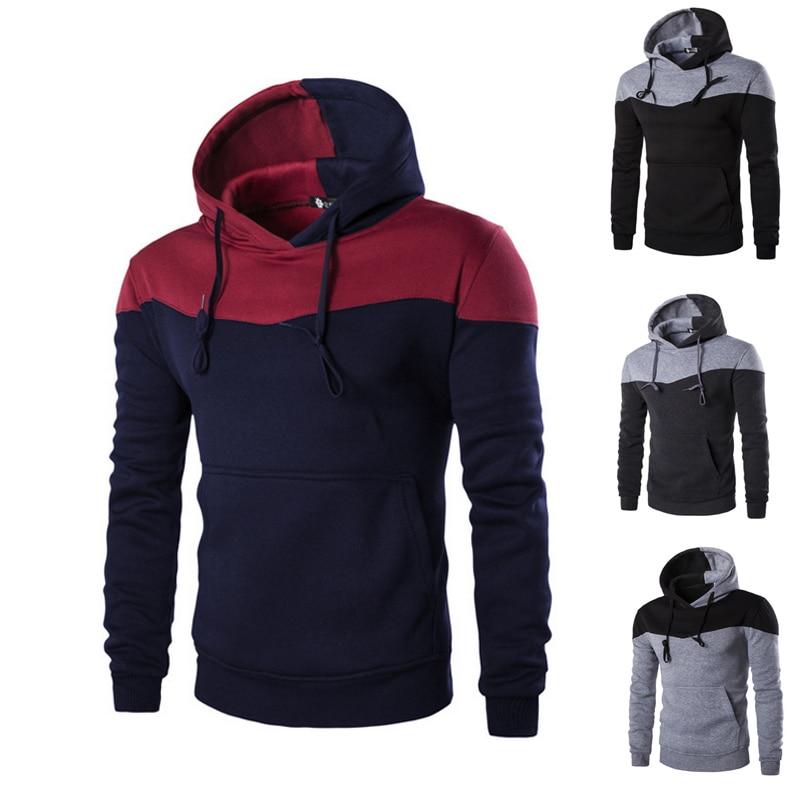 Moda Uomo Slim Con Cappuccio Felpa Con Cappuccio del Cappotto Caldo di Inverno Outwear H9