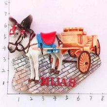 Spain Mijas three-dimensional donkey cart travel souvenir refrigerator stickers