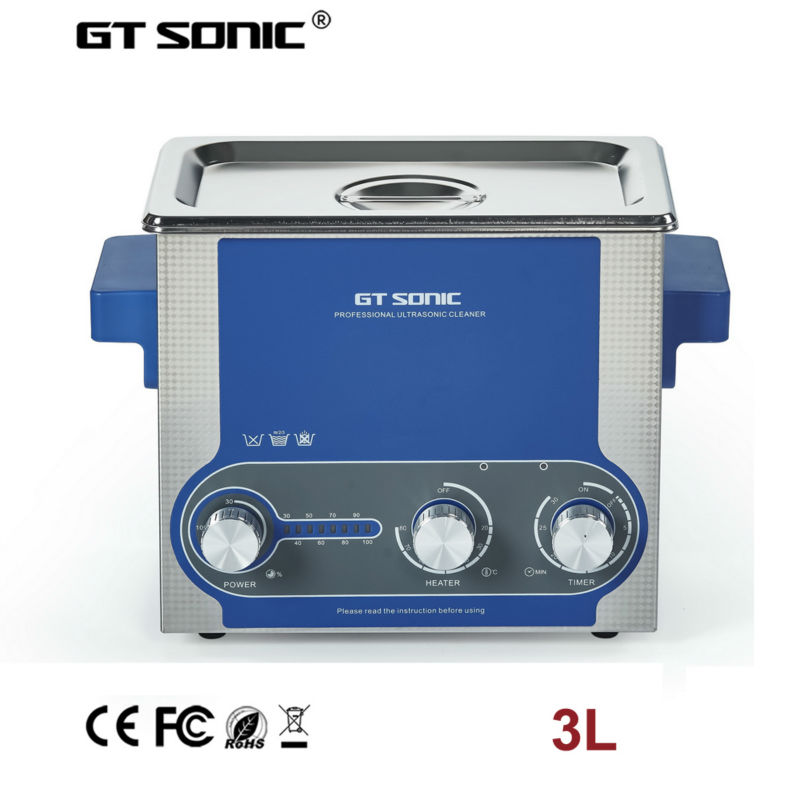 ultrasonic chain watch cleaner 3L timer heater power adjustable print head brush dental jewelry bottle cleaning machine bath
