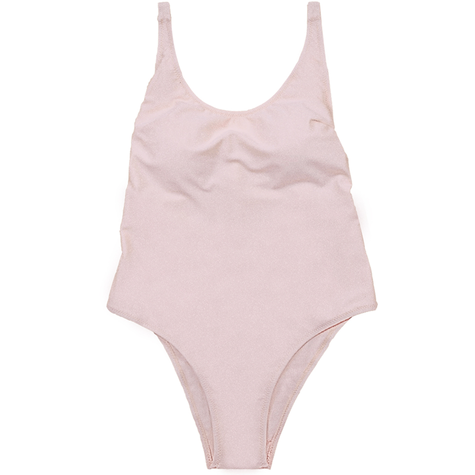 One Piece Solid Swimsuit Women Swimwear Push Up Bodysuit Sexy Padded Bathing Suit Female Beachwear Patchwork Swimming Suit in Body Suits from Sports Entertainment