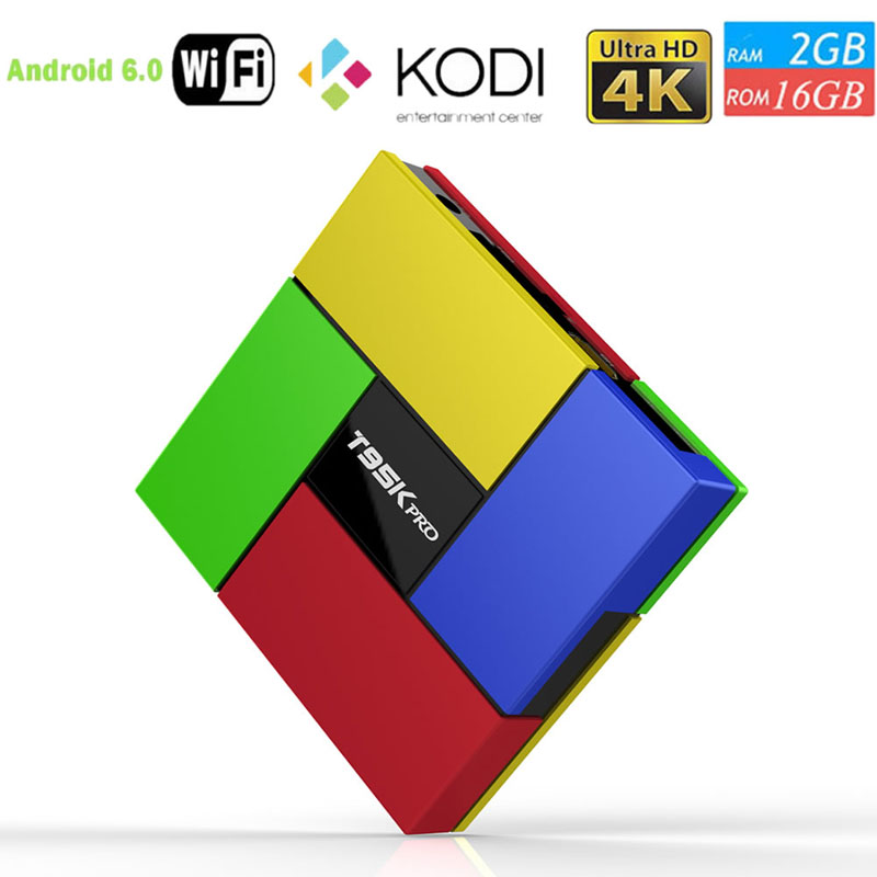 T95K PRO 2GB 16GB Android 6.0 TV Box Octa Core Amlogic S912 KODI Dual Band WIFI zidoo x6 pro android 5 1 lollipop octa core tv box rk3368 2gb 16gb 1000m lan dual band wif bt4 0 4k 2k h 265 kodi 3d