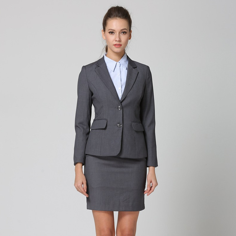 Fmasuth Spring Women Suit with Skirt 2 pieces Set Formal Blazer+Short Skirt Working Skirt Suit for Work ow0440