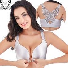 Queenral Plus Taille 34-52 ABCDE Tasse Soutiens-gorge Pour Les Femmes Sous- Vêtements Sans Couture Avant Fermé Soutien-Gorge Sans. 669e6af5c7f