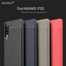 For Cover Huawei P30 Case Capas Silicon Leather Bumper Phone Funda Capa Shell