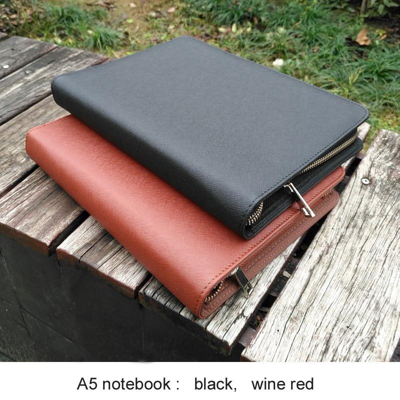 Multifonction bureau d'affaires A5 zipper faux cuir carnet de voyage journal agenda quotidien planificateur composition carnet de croquis 1112A