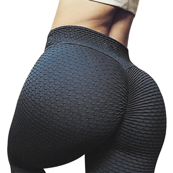 CHRLEISURE Solid Black Fitness Leggings Women High Waist Workout Push Up