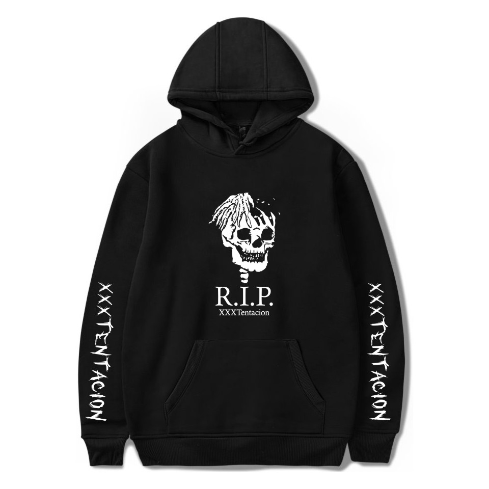 Xxxtentacion Hoodie Print Xxxtentacion Man Casual Winter Coat White Black Hooded Sweatshirts With Hat