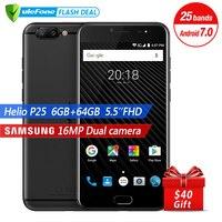 Ulefone T1 Dual Rear Camera 16MP Mobile Phone 5 5 Inch FHD Helio P25 Octa Core