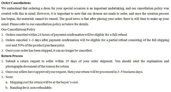 Order Cancellations