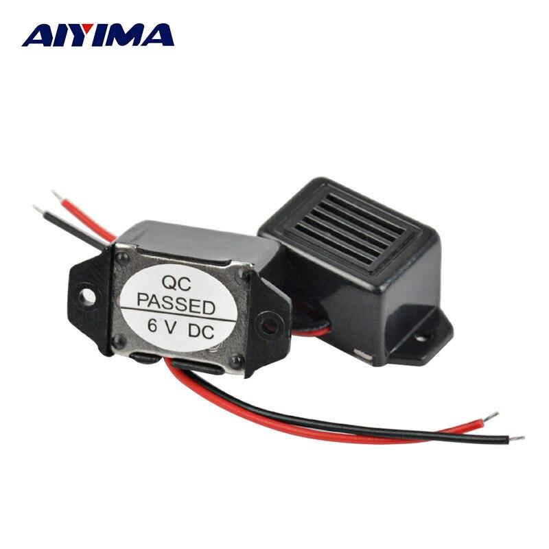 AIYIMA 10Pcs Mini Audio Portable Speakers Column 1.2V/3V/6V Active Repeller Mechanical Buzzer Vibration Speaker 400Hz With Ear