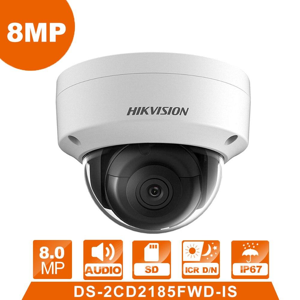 Hik DS-2CD2185FWD-IS IP Caméra 8 MPNetwork Dôme Caméra H 265 CCTV Dôme Caméra IP67 avec Audio