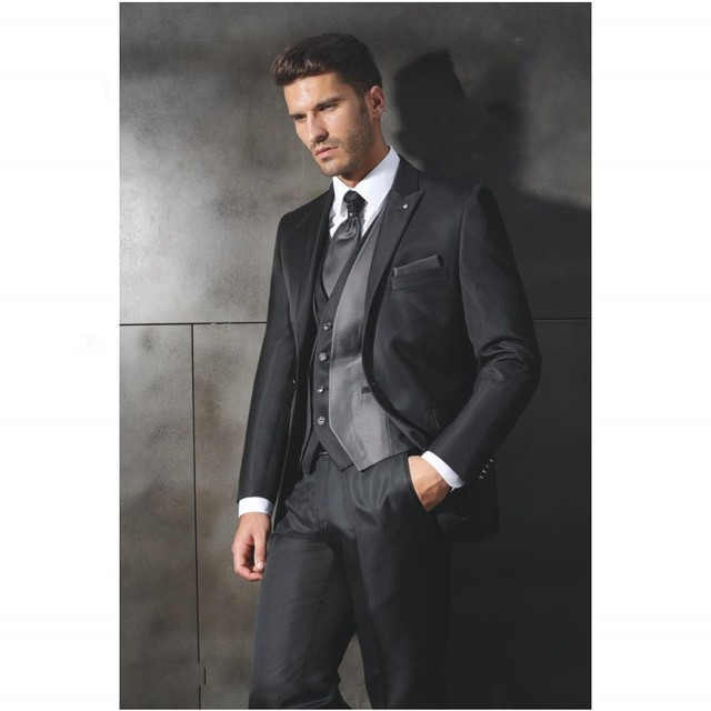 Free shipping Three piece Suit Male Suits Groomsman Tuxedos Men ...