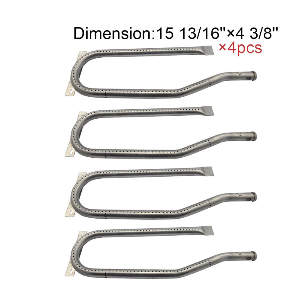 13361 BBQ Parts Gas Grill Replacement 15.8 Inch Stainless Steel Burner For Jenn Air 720-0336, 720-0337,Sams 4pack