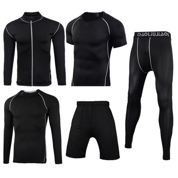 Men Sportswear Compression Sport Suits Quick Dry Running Sets Clothes Sports Joggers Training Gym Fitness Tracksuits Running Set 23