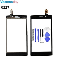 Vecmnoday 5'' Touch Screen Digitizer Panel For Philips S337 Cellphone Front Glass CTS337 Touchscreen Sensor Repair +Tools