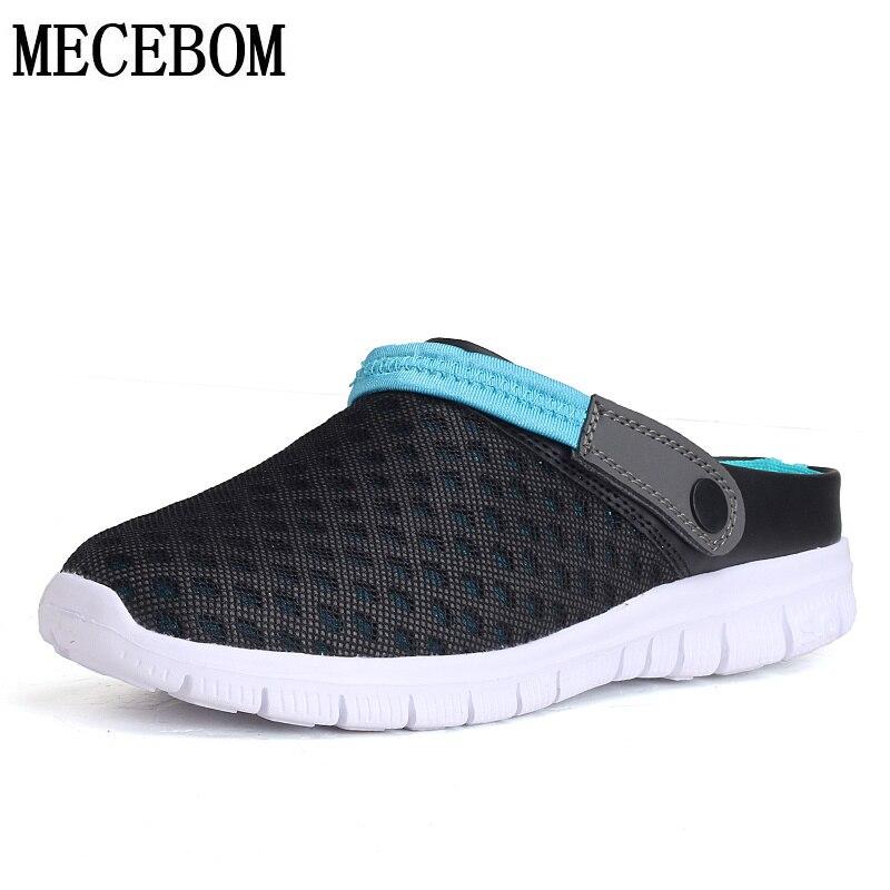 Men's Mesh Sandals New Summer breathable beach sandals slip-on men casual shoes EVA lightweight big size 39-46 927m