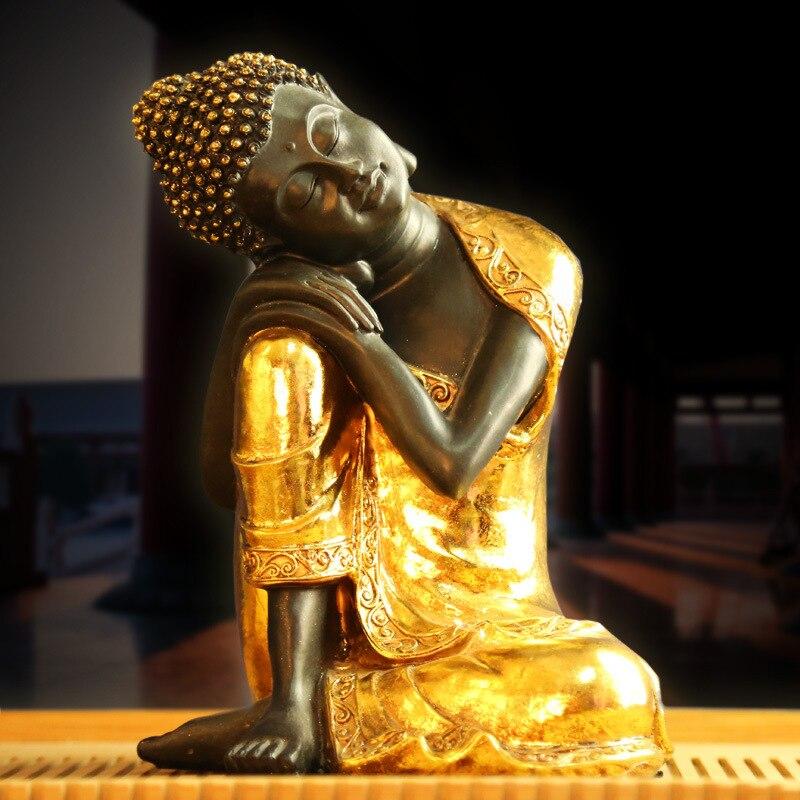 Bouddha chinois résine décoration Vintage décor à la maison décoration de la maison accessoires artisanat